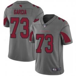 Nike Cardinals 73 Max Garcia Silver Men Stitched NFL Limited Inverted Legend Jersey