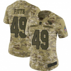 Women Nike Arizona Cardinals 49 Kylie Fitts Limited 2018 Salute To Sercie Vapor Untouchable Jersey