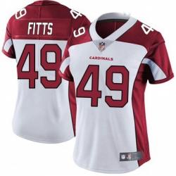 Women Nike Arizona Cardinals 49 Kylie Fitts Limited Cardinal White Vapor Untouchable Jersey