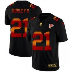 Atlanta Falcons 21 Todd Gurley II Men Black Nike Red Orange Stripe Vapor Limited NFL Jersey