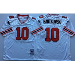Men Atlanta Falcons 10 Steve Bartkowski White M&N Throwback Jersey