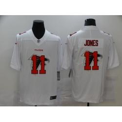 Nike Atlanta Falcons 11 Julio Jones White Shadow Logo Limited Jersey