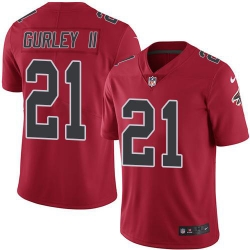 Nike Atlanta Falcons 21 Todd Gurley II Red Men Stitched NFL Limited Rush Jersey