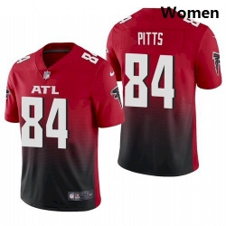 Women Atlanta Falcons Kyle Pitts Red 2021 Draft Jersey