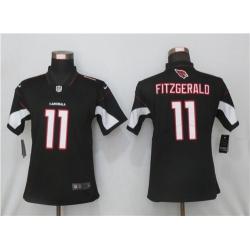 Women Nike Arizona St.Louis Cardinals 11 Larry Fitzgerald Black 2020 Vapor Untouchable Jersey