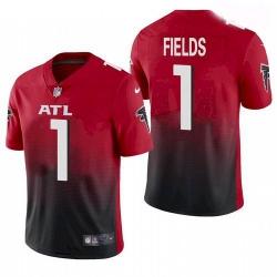 Youth Atlanta Falcons #1 Justin Fields Red 2021 Draft Jersey