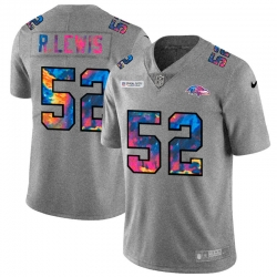 Baltimore Ravens 52 Ray Lewis Men Nike Multi Color 2020 NFL Crucial Catch NFL Jersey Greyheather