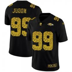 Baltimore Ravens 99 Matthew Judon Men Nike Leopard Print Fashion Vapor Limited NFL Jersey Black