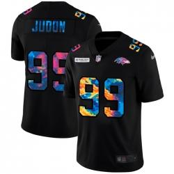 Baltimore Ravens 99 Matthew Judon Men Nike Multi Color Black 2020 NFL Crucial Catch Vapor Untouchable Limited Jersey