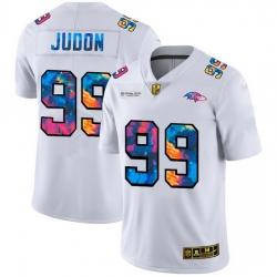 Baltimore Ravens 99 Matthew Judon Men White Nike Multi Color 2020 NFL Crucial Catch Limited NFL Jersey