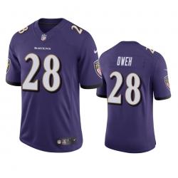 Men Baltimore Ravens 28 Jayson Oweh Purple Vapor Limited 2021 NFL Draft Jersey