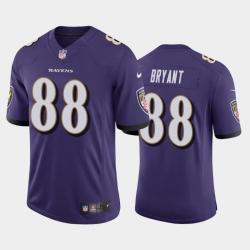 Men Baltimore Ravens Dez Bryant Purple Vapor Untouchable Limited Jersey