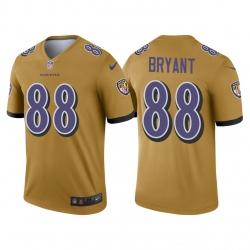 Men's Ravens Dez Bryant Inverted Gold Legend Jersey