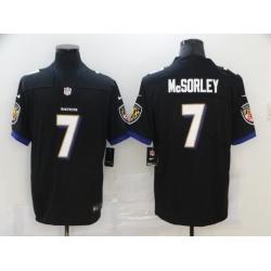 Nike Baltimore Ravens 7 Trace McSorley Black Vapor Untouchable Limited Jersey