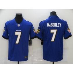 Nike Baltimore Ravens 7 Trace McSorley Purple Vapor Untouchable Limited Jersey