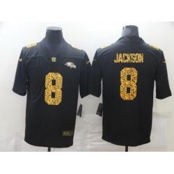 Nike Baltimore Ravens 8 Lamar Jackson Black Leopard Vapor Untouchable Limited Jersey