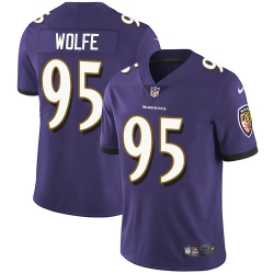 Nike Baltimore Ravens 95 Derek Wolfe Purple Team Color Men Stitched NFL Vapor Untouchable Limited Jersey