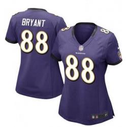 Women Baltimore Ravens Dez Bryant Purple Vapor Untouchable Limited Jersey