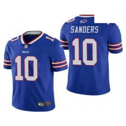 Men Buffalo Bills 10 Emmanuel Sanders Royal Blue 2020 Vapor Untouchable Stitched NFL Nike Limited Jersey