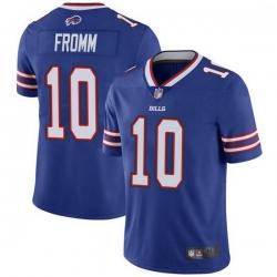 Men Buffalo Bills 10 Jake Fromm Blue Limited Vapor Limited Untouchable Jersey