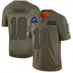 Men Buffalo Bills 10 Jake Fromm Green Limited 2019 Salute to Service Jersey