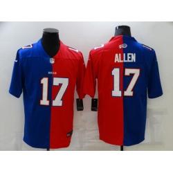 Men Buffalo Bills 17 Josh Allen Blue Red Two Tone 2021 Vapor Untouchable Stitched NFL Nike Limited Jersey