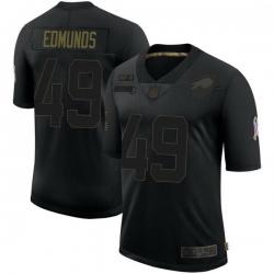 Men Buffalo Bills 49 Tremaine Edmunds Black Limited 2020 Salute To Service Jersey