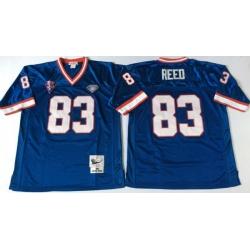 Men Buffalo Bills 83 Andre Reed Blue M&N Throwback Jersey