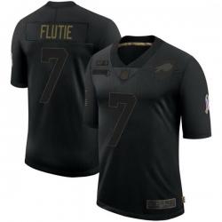 Men Buffalo Bills Doug Flutie Black Limited 2020 Salute To Service Jersey