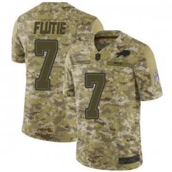 Men Buffalo Bills Doug Flutie Camo Limited 2018 Salute to Service Jersey