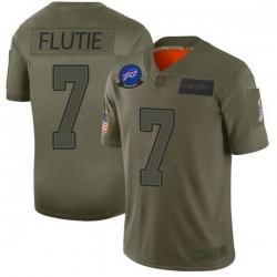 Men Buffalo Bills Doug Flutie Camo Limited 2019 Salute to Service Jersey