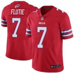 Men Buffalo Bills Doug Flutie Red Limited Color Rush Vapor Untouchable Jersey