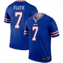 Men Buffalo Bills Doug Flutie Royal Legend Jersey
