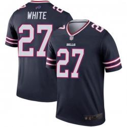 Men Buffalo Bills Tre'Davious White White Legend Inverted Navy Jersey