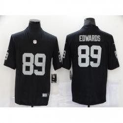 Men's Oakland Raiders #89 Bryan Edwards Black Team Color Vapor Untouchable Limited Jersey