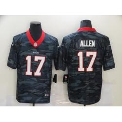 Nike Buffalo Bills 17 Josh Allen Black Camo Limited Jersey