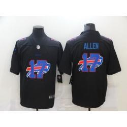 Nike Buffalo Bills 17 Josh Allen Black Shadow Logo Limited Jersey