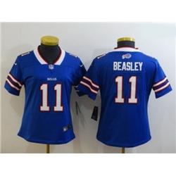 Women Buffalo Bills 11 Cole Beasley Blue Limited Jersey