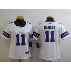 Women Buffalo Bills 11 Cole Beasley White Vapor Untouchable Limited Jersey