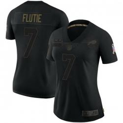 Women Buffalo Bills Doug Flutie Black Limited 2020 Salute To Service Jersey