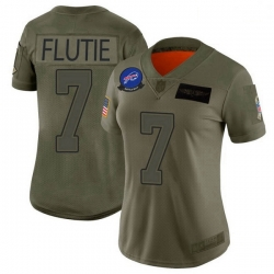 Women Buffalo Bills Doug Flutie Camo Limited 2019 Salute to Service Jersey