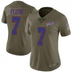 Women Buffalo Bills Doug Flutie Green Limited 2017 Salute to Service Jersey