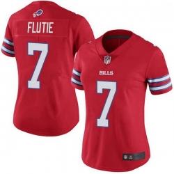 Women Buffalo Bills Doug Flutie Red Limited Color Rush Vapor Untouchable Jersey