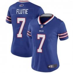 Women Buffalo Bills Doug Flutie Royal Limited Team Color Vapor Untouchable Jersey