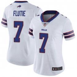 Women Buffalo Bills Doug Flutie White Limited Color Rush Vapor Untouchable Jersey