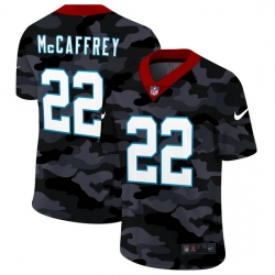 Carolina Panthers 22 Christian McCaffrey Men Nike 2020 Black CAMO Vapor Untouchable Limited Stitched NFL Jersey