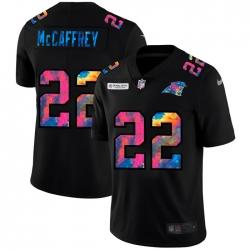Carolina Panthers 22 Christian McCaffrey Men Nike Multi Color Black 2020 NFL Crucial Catch Vapor Untouchable Limited Jersey
