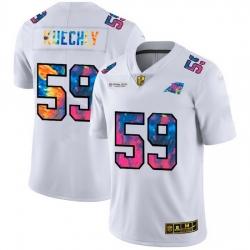 Carolina Panthers 59 Luke Kuechly Men White Nike Multi Color 2020 NFL Crucial Catch Limited NFL Jersey