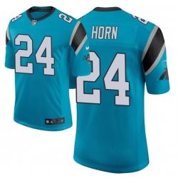 Men Carolina Panthers 24 Jaycee Horn 2021 NFL Draft Classic Limited Jersey   Blue