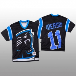 NFL Carolina Panthers 11 Robby Anderson Black Men Mitchell  26 Nell Big Face Fashion Limited NFL Jersey